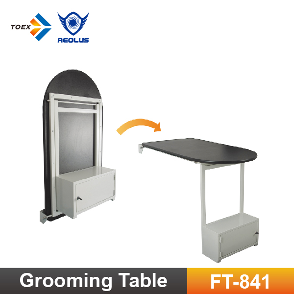 FT-841 Wall Mounted Pet Grooming Table Dog Foldable Table with Cabinet