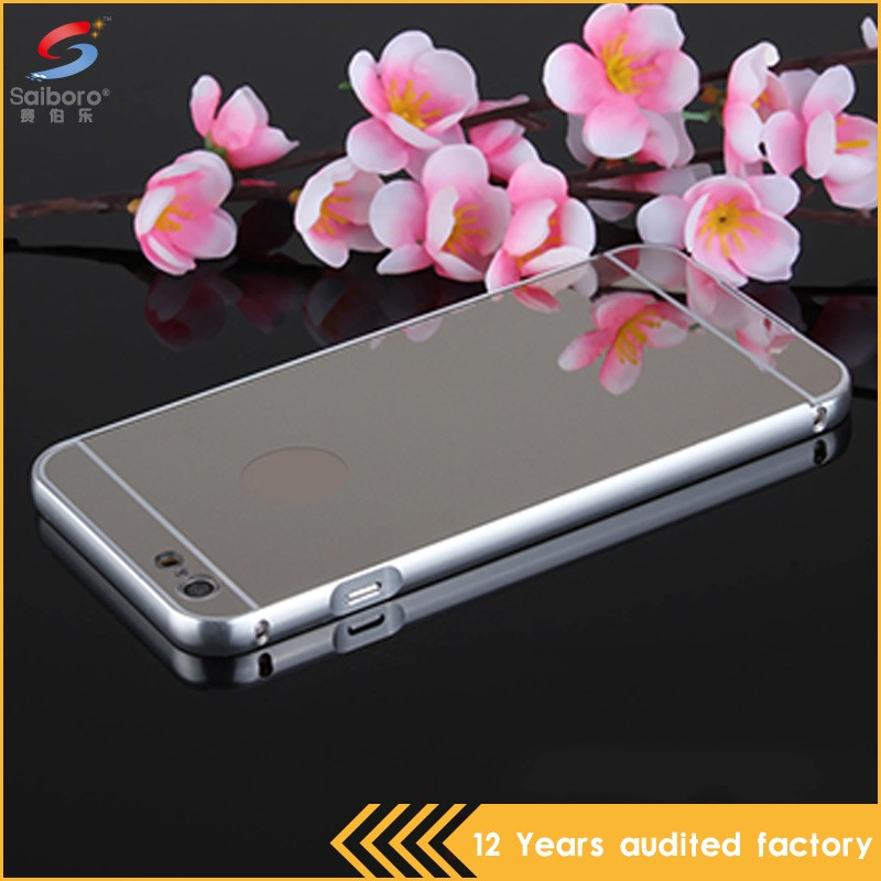 Guangzhou wholesale silver metal mobile phone cover case for iphone 6
