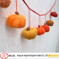Hot sale felt pumpkin garland for home decoration