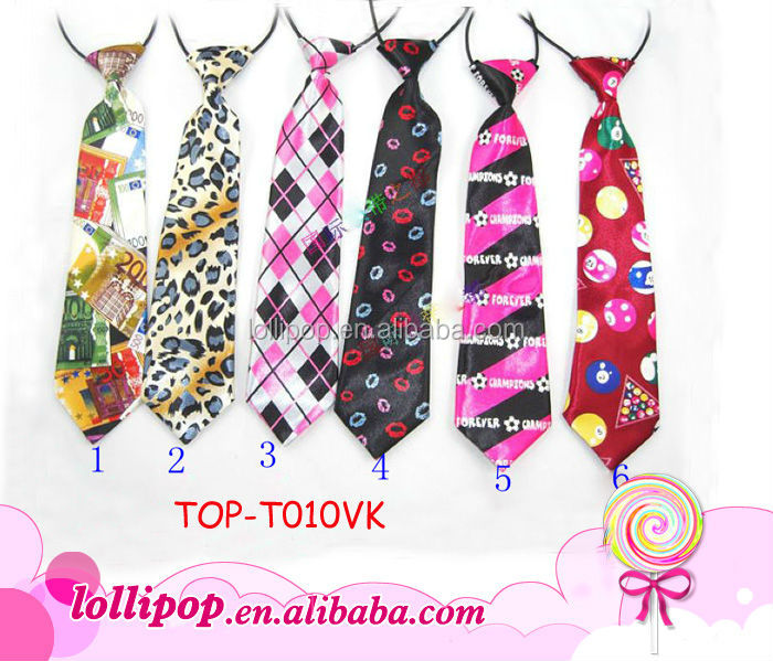 2015 Hot sale fashion polyester printed pattern baby neck tie