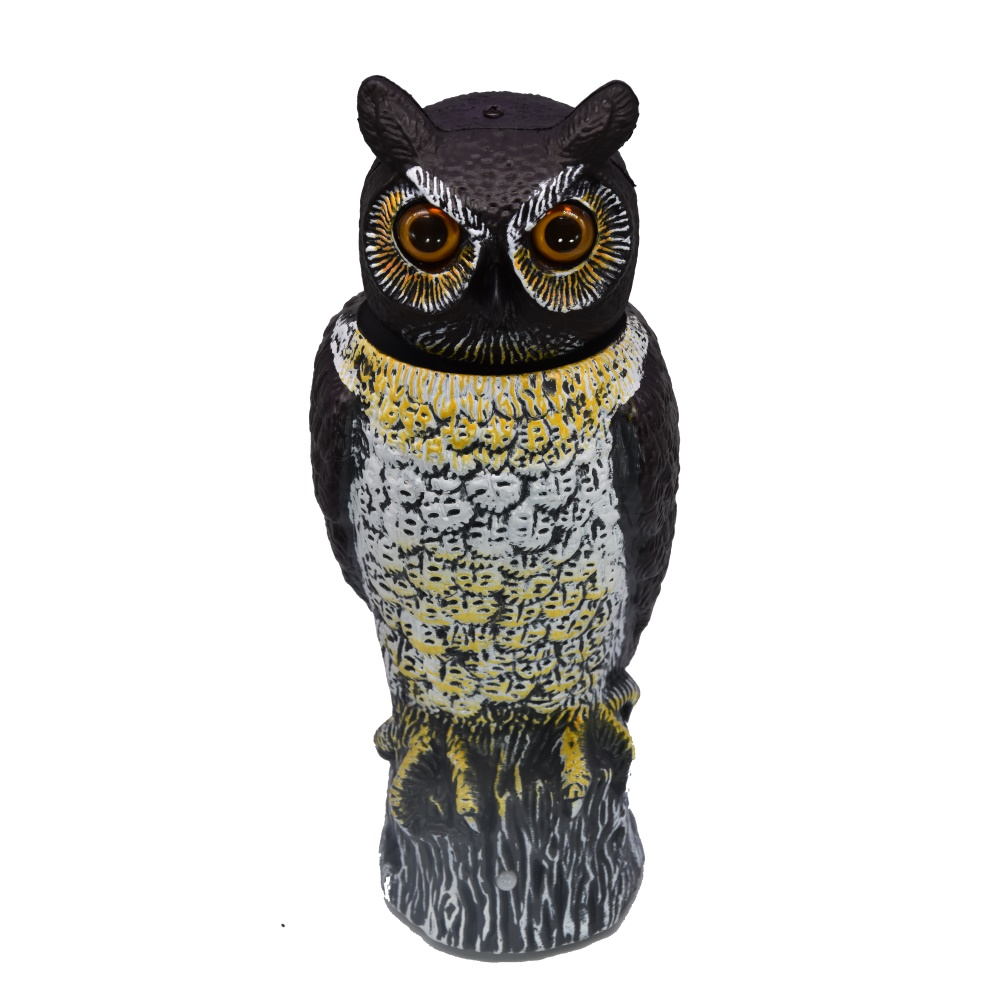 China garden owl shape manufacturer motion senor bird scarecrow