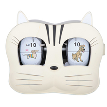 2016 popular newest Mktime fashion clock plastic cat flip clock