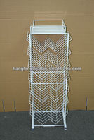 Customize metal Iron wire books display stand display rack supplier