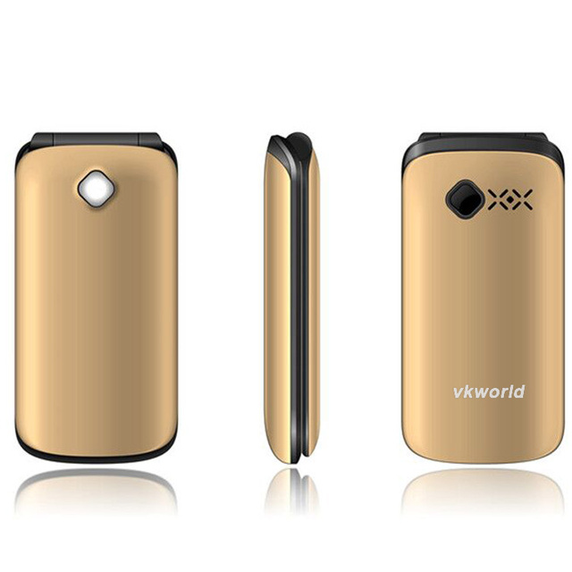 Vkworld Z2 Cheap Elder Flip Cell Phone 2.4 inch with Camera Dual SIM Flashlight Hot Selling China Function Unlocked Mobile Phone