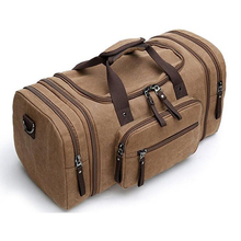 Large Canvas Travel Tote Luggage Men's Weekender Duffle Bag travel bag
