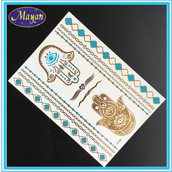 wholesale glitter metallic temporary tattoo