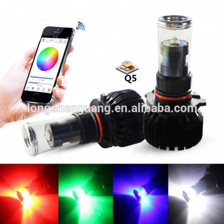 Multi-color Led Fog Light Car Led Apps Control Wireless <strong>H10</strong> H7 H11 9005 HB3 9006 HB4 5202 20W RGB LED For Headlight Fog <strong>Lamp</strong>