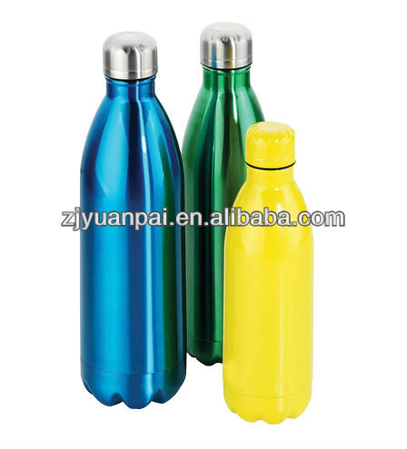 colorful bullet shaped vacuum stainless steel flask