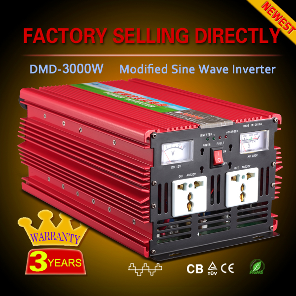 Frequency 1000w 2000w 3000w 4000w solar panel inverter 12v 220v ac converter
