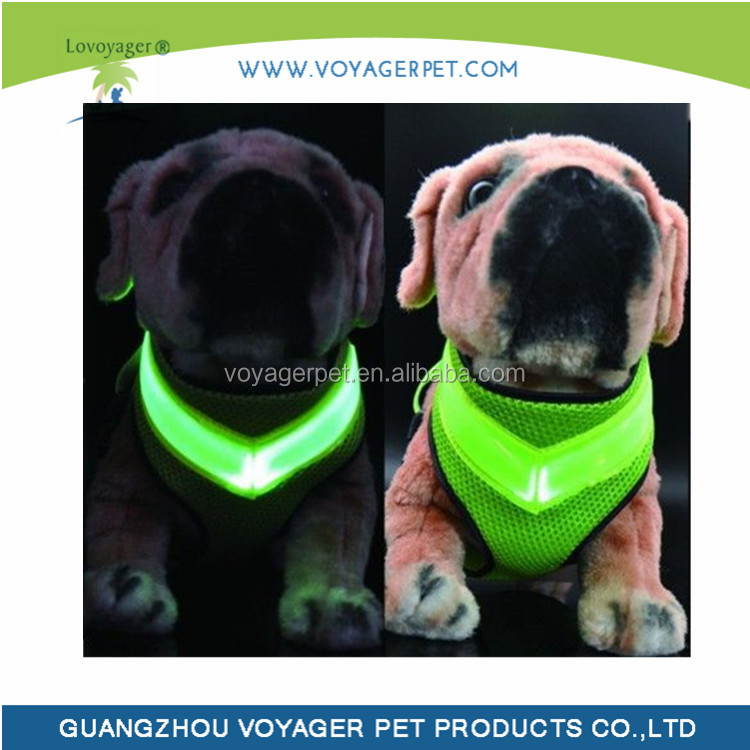 Lovoyager Lastest USB charging wholesales LED dog harness for small dog