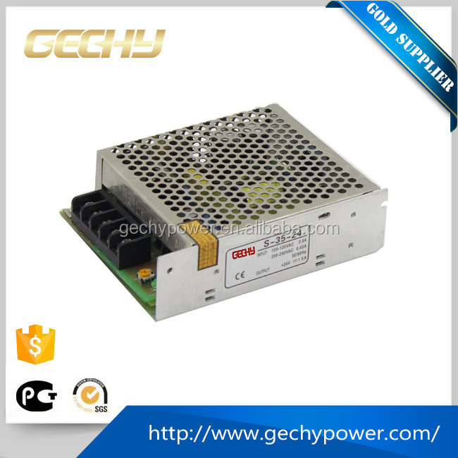 35w 24v AC/DC single phase output LED display switching model power supply