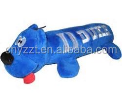 dark Blue Devils Plush Tube Pet Toy with squeaky