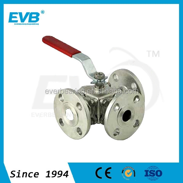 Stainless steel 3 way ball valve 1 inch