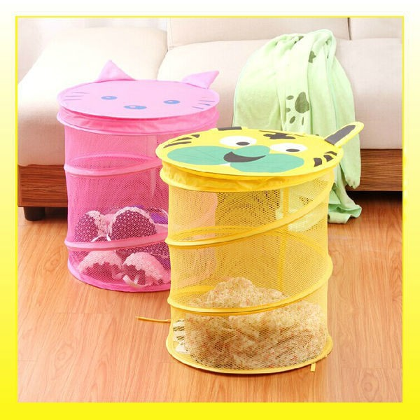 2014 Different colors animal laundry basket with lids