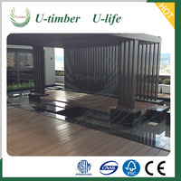 Free sample plastic wood flooring / decking for outdoor decoration WPC