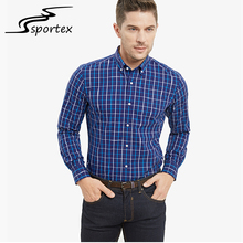 Custom color size long sleeve lapel 100% cotton plaid business shirt for men
