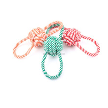 Dogs Interactive Toys Durable Chew Cotton Dog Toy Rope Ball