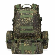 15 colours hot sale waterproof 600 D oxford outdoor camping 55 l waterproof molle tactical backpack military backpack