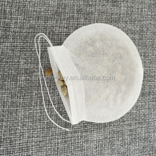 E1008 Disposable Empty Round Shape Filter Paper Tea Bag for Sale