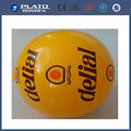 2014 hot sale and top grade giant colorful ball large PVC inflatable beach ball in yellow