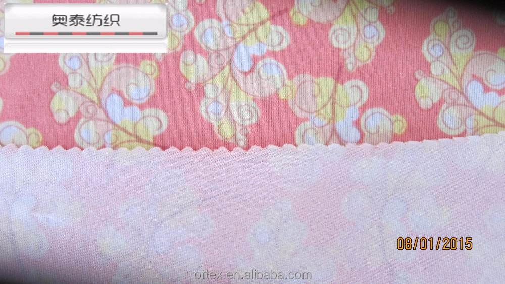 free samples artificial flower print fashion dress fabric