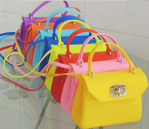 water-proof silicone jelly bag for women,candy color jelly silicone beach bag