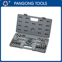 Free Sample Hand Tools 27 Pieces Taps and Dies Mechanical Tool Kit