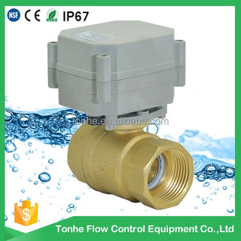 DN25 0~5V/4-20mA electric auto-control water system brass water flow control valve