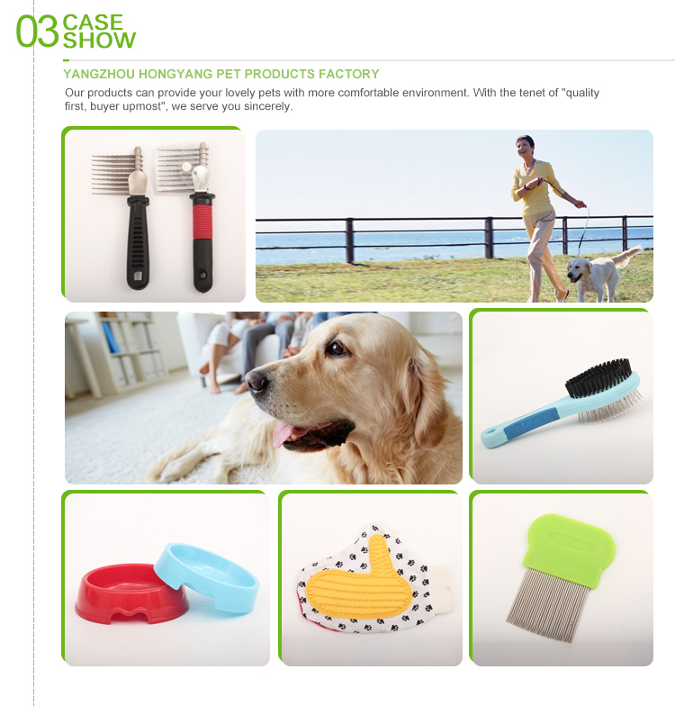 Practical dog deshedding tool&pet grooming brush