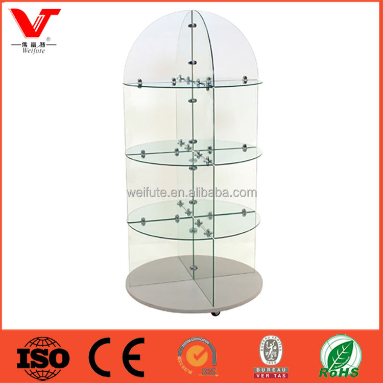2016 new design fashionable sale glass display case