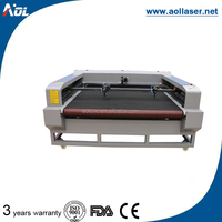 Automatic fabric clothing laser textile cutting machine with double head