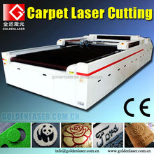 Wuhan Golden Laser factory laser carpet cutting machine
