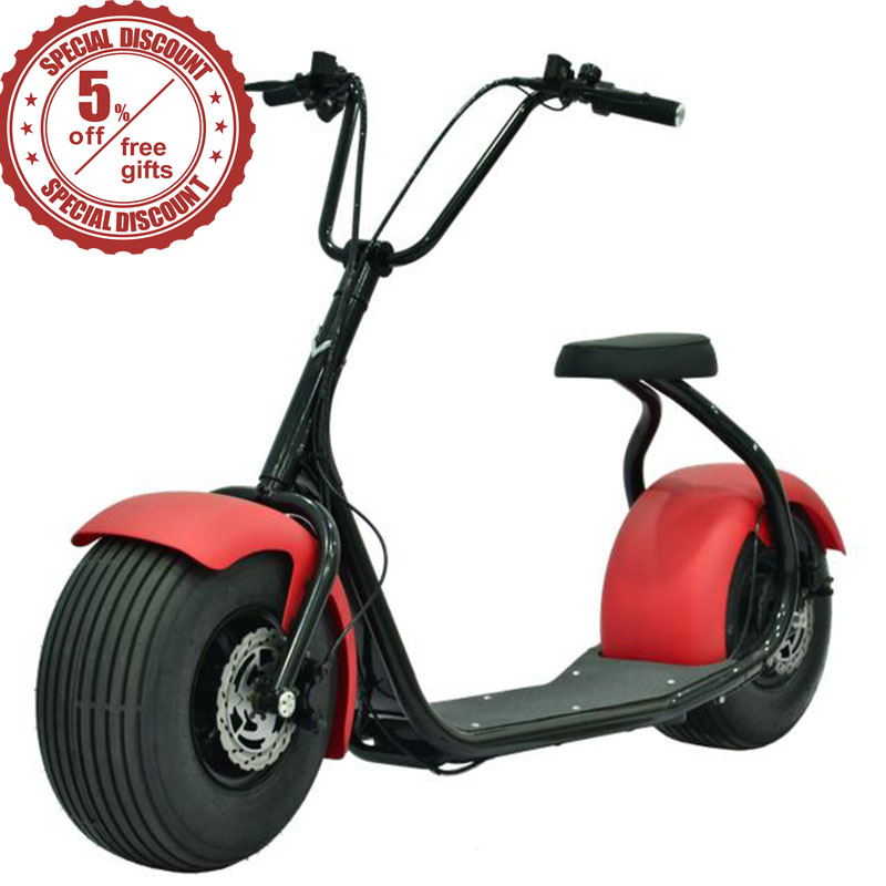 18 inch 60V 800W citycoco electric scooter with shock absorption/LED Headlight/Seat electric Harley Scooter