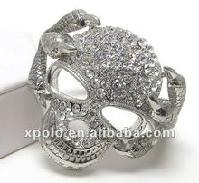 Factory Wholesale Crystal Skull With Dragon Claws Bangle