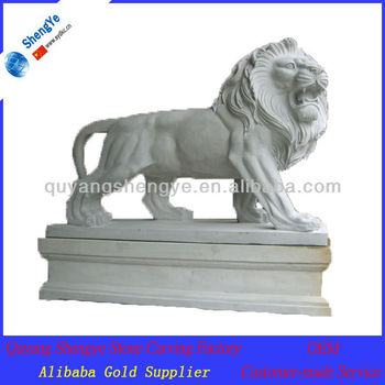 China manufacture natural stone lion statues for sale