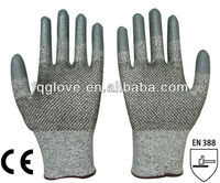 FQGLOVE dots on the palm stainless steel cut resistant glove