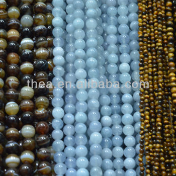 Multi color beads like the shower curtain 6mm 8mm 10mm natural stone loose beads for jewelry making wholesale alibaba