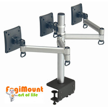 Space Generator Triple LCD Monitor Arm (Desk Clamp Mount)