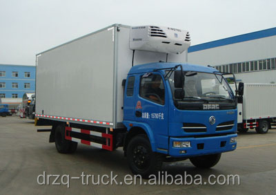 Lowest price good quality Dongfeng fiberglass material refrigerator truck