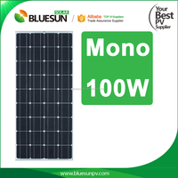 Bluesun high efficiency best factory price mono 100wp solar pv panel 100w solar panel output