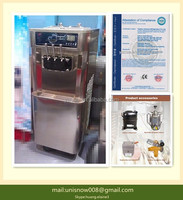 New 3 Head floor standing Soft Ice Cream Machine 220v Never Used RB3122