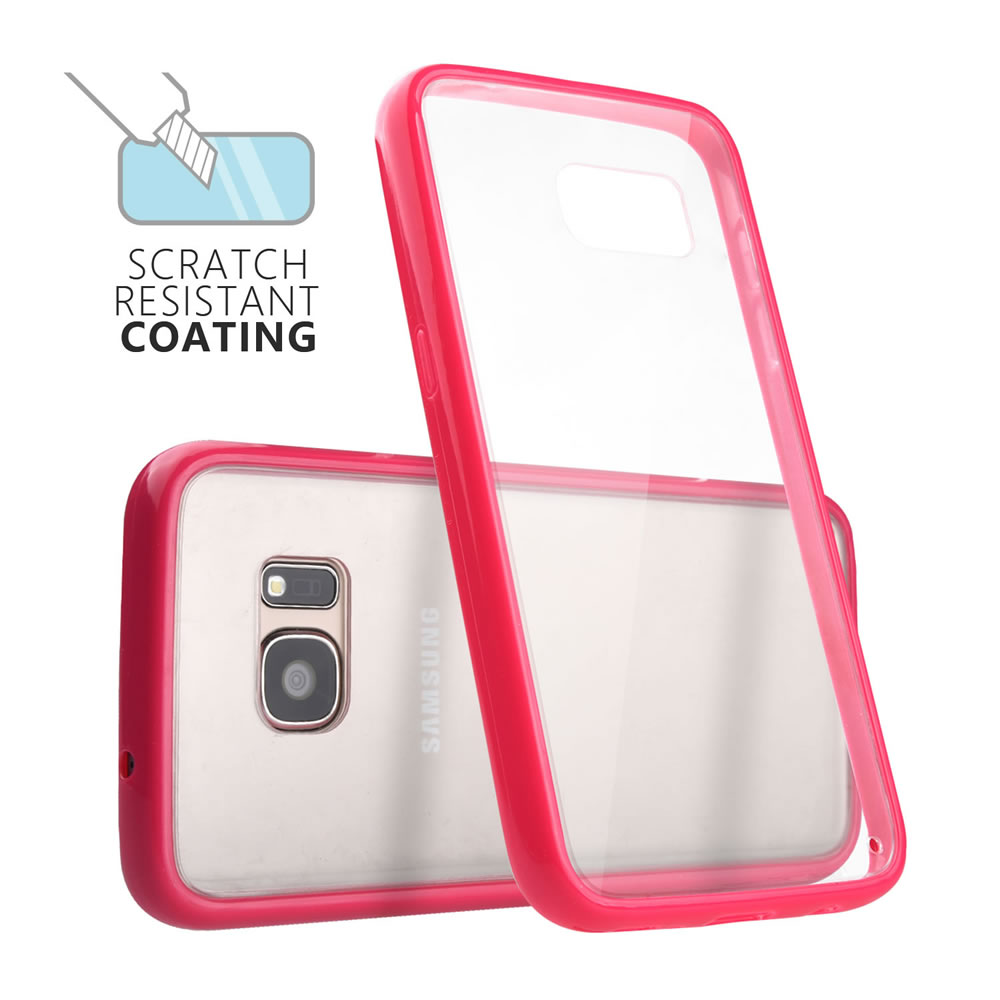 C&T Hybrid Shockproof Clear Hard PC+ Scratch-Resistant TPU Bumper Case Cover for Samsung Galaxy S7