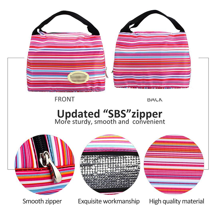 Daily Life Reusable Cooler Insulated Lunch Box Tote Bag