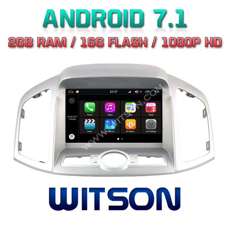 WITSON S190 ANDROID 7.1 CAR DVD PLAYER FOR NEW CHEVROLET CAPTIVA 2012 2013 2G DDR3 1080P HD