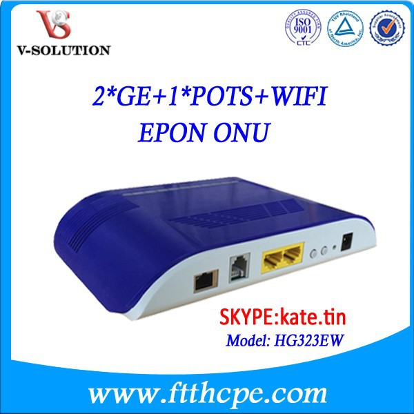 <strong>New</strong> arrival 2GE+1POTS+WIFI GPON ONT (trip-play all in one GPON gateway)