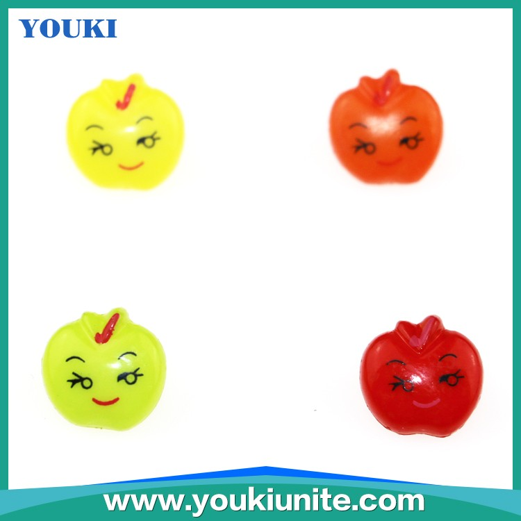Cute Plastic Children Button,Apple Shape Smiling Face YKBT2-6001