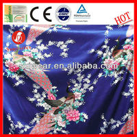 Mosquito Resistant Polyester Peacock Satin Print Fabric
