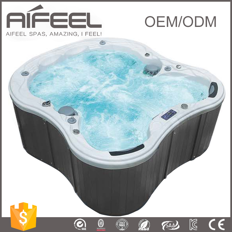 2017 CE approved 6 person Freestanding Acrylic portable balboa whirlpool massage outdoor hot tub