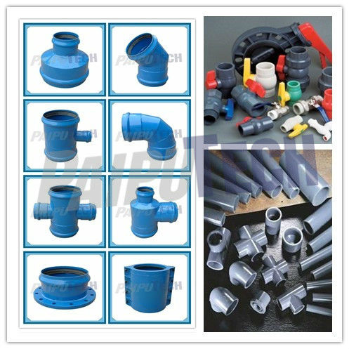 Schedule 40 PN16 PVC Pipe Fittings with Rubber Joint