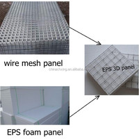 2015 new EPS 3d weld wire mesh foam panels building construction materials
